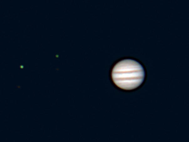Jupiter from a webcam. Photo: Mike Barrett