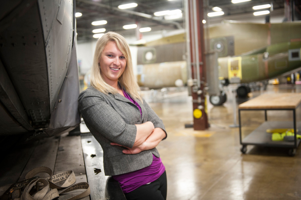 Jackee Mohl, a Philadelphia native, works for Boeing in her hometown.Photo: Boeing