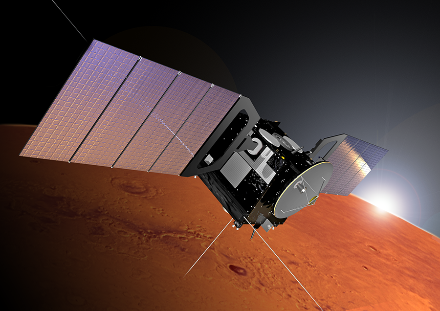 Artist rendering of the Mars Express spacecraft. Credit: Alex Lutkus