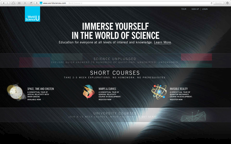 The World Science U homepage: www.worldscienceu.com