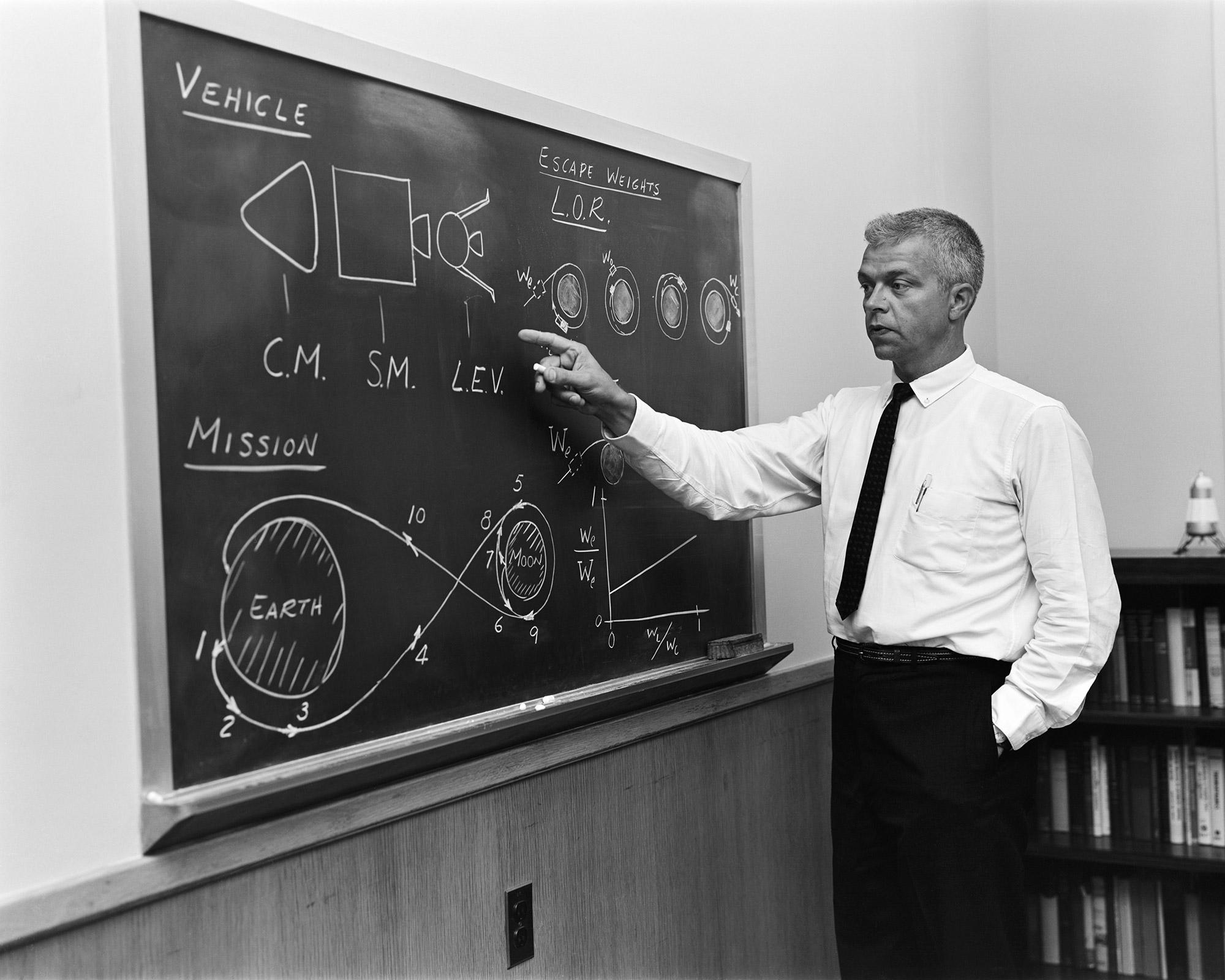 John Houbolt, the populariser of Lunar Orbit Rendezvous. Credit: NASA