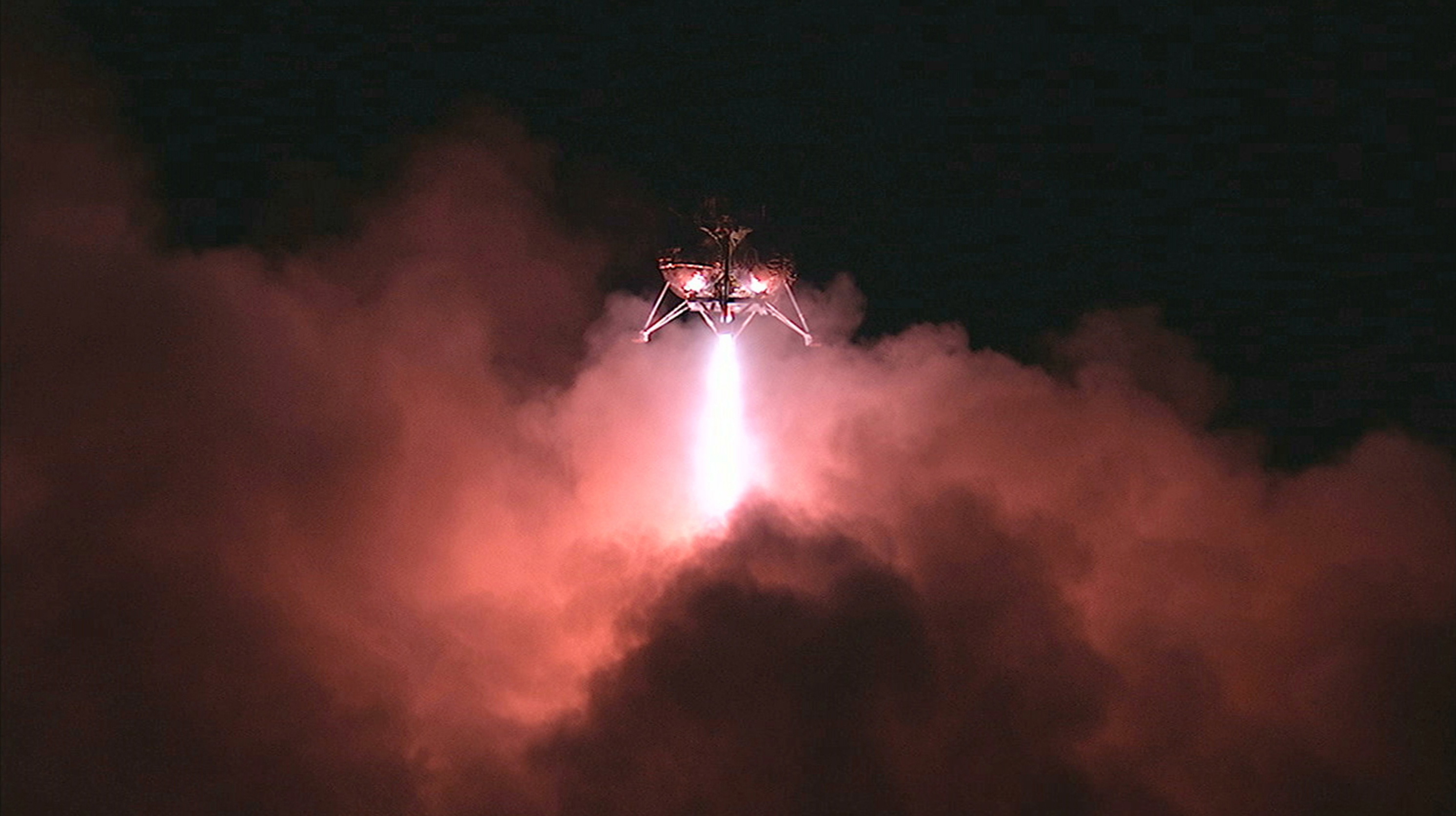 NASA's Morpheus prototype lander proved it was quite capable of successfully navigating the ALHAT hazard field after finding a safe landing spot during a night-time, free-flight test conducted at Kennedy Space Center on May 28, 2014. Photo credit: NASA/Mike Chambers