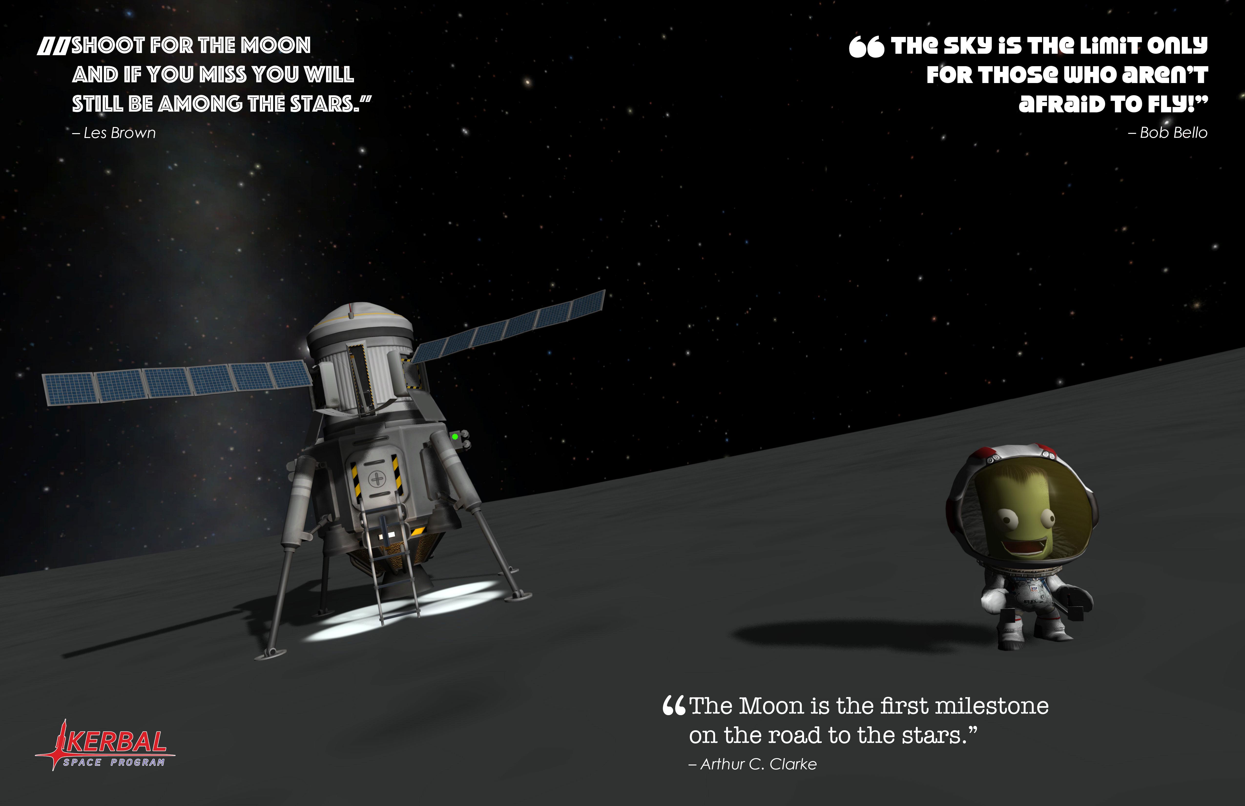 KERBAL SPACE PROGRAM MUN (Moon) POSTER. Credit: Squad, Monkey Squad S.A de C.V.