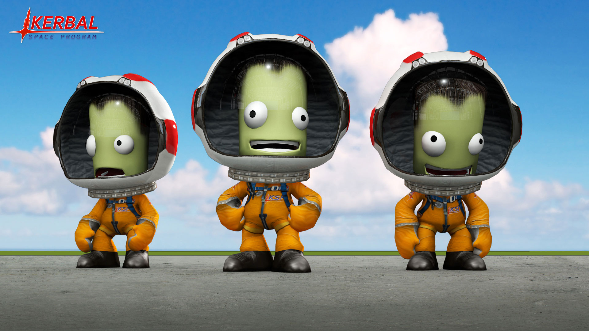 Jebediah, Bob, Bill, and Valentina are the Original Four astronauts in Kerbal, but you can create your own too. Credit: Squad, Monkey Squad S.A de C.V.