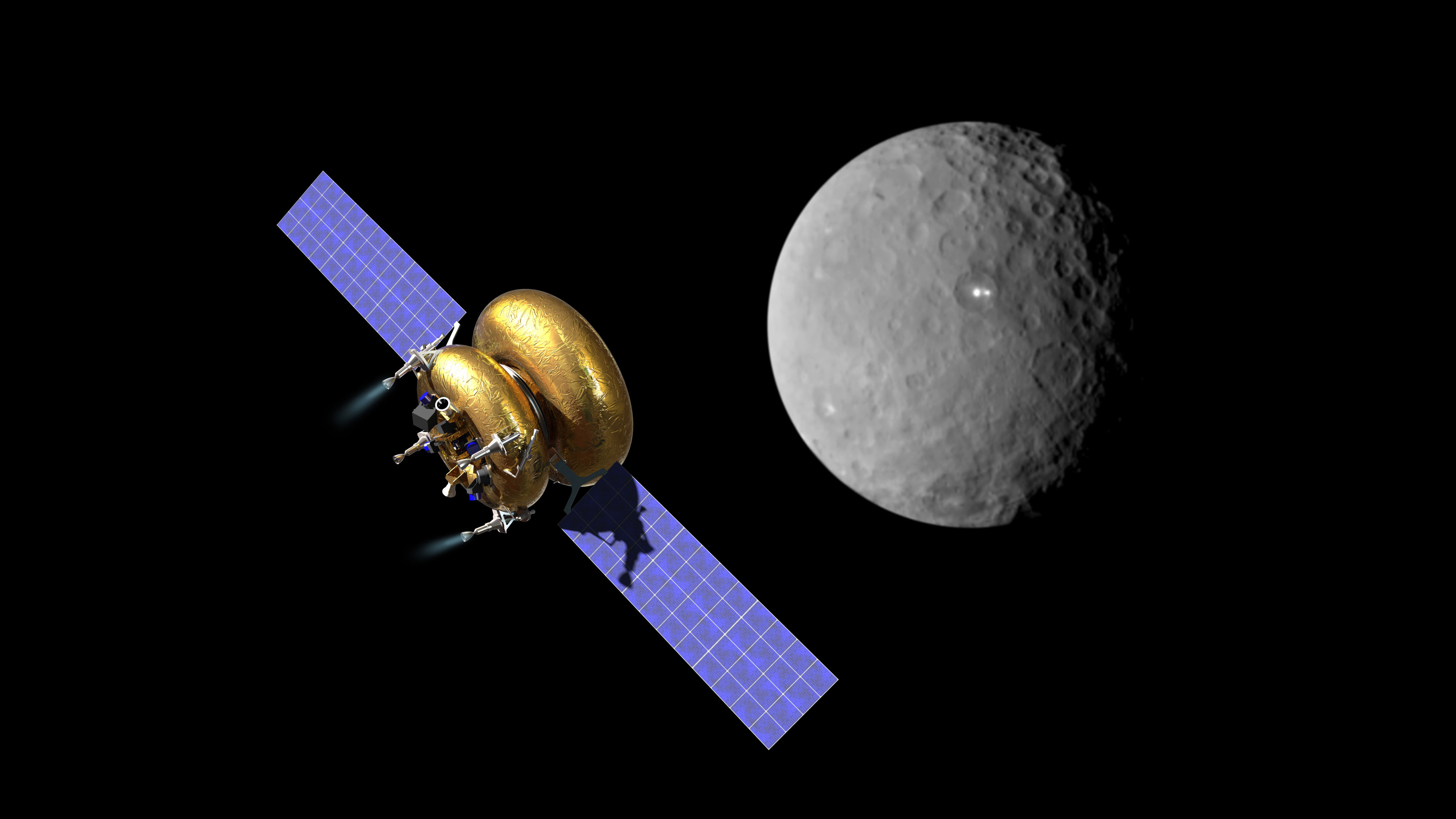 Artist's illustration of the Arkyrd 200. The spacecraft will be able collect data on the target's shape, rotation, density, and surface composition – giving it the ability to characterize potential mining value. Credit: Planetary Resources