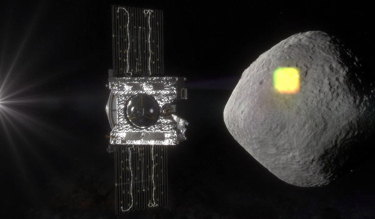 OSIRIS-REx will spend a year surveying Bennu before collecting a sample to return to Earth for analysis. Credit: NASA/Goddard/University of Arizona